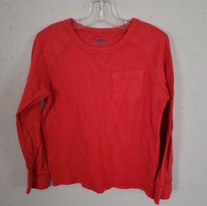 Oshkosh Orange Thermal Shirt Boys Size 6